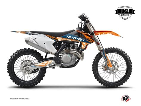 ktm  sxf dirt bike eraser graphic kit blue orange light