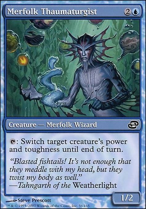 Mtg Merfolk Deck Tapped Out merfolk thaumaturgist plc mtg card