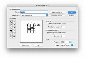 Fretboard Editor Dialog Box