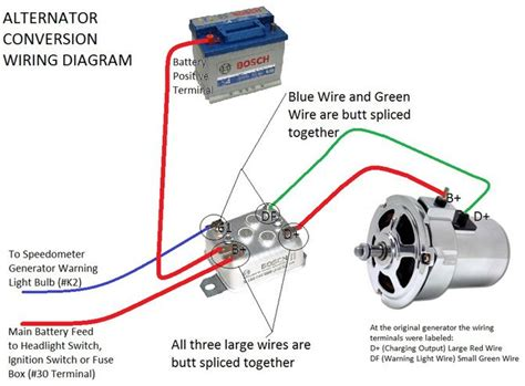 alternator conversion instructions voltage regulator vw