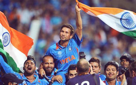 sachin tendulkar celebrating 2011 cricket world cup india wallpaper wallpapersbyte