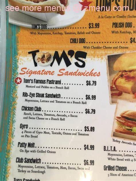 menu  toms family restaurant restaurant rosamond