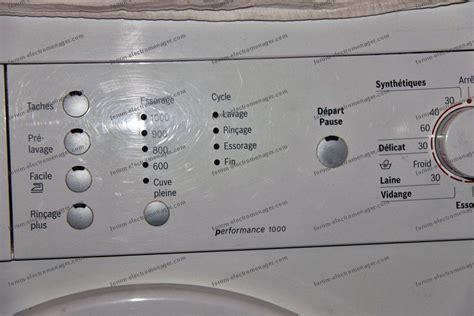 panne lave linge bosch maxx 7 code erreur lave linge bosch