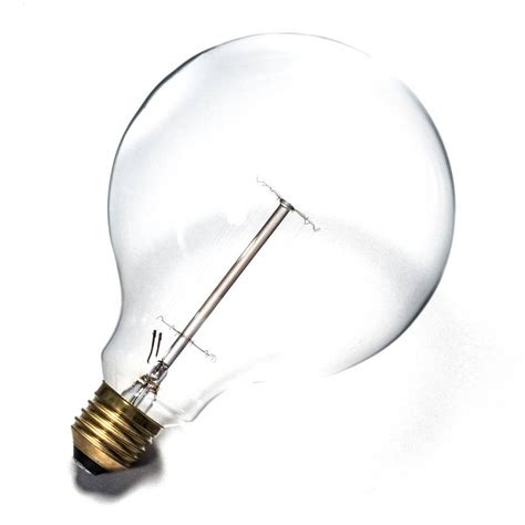 traditional filament large globe light bulb by factorylux