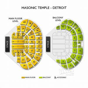Masonic Temple Detroit Seating Chart Vivid Seats