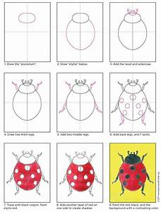 How To Draw A Ladybug  U00b7 Art Projects For Kids