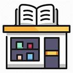 Bookstore Icon Building Architecture Icons Outline System