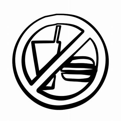 Drink Clipart Sign Allowed Signs Eating Drinks
