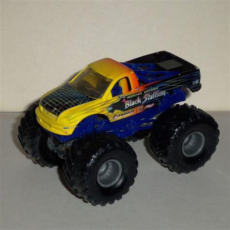 diecast monster jam trucks wheels monster jam black stallion 1 64 diecast truck