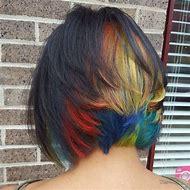 Rainbow Peekaboo Hair Color