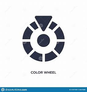 Color Wheel Bar Diagram On White Background Royalty