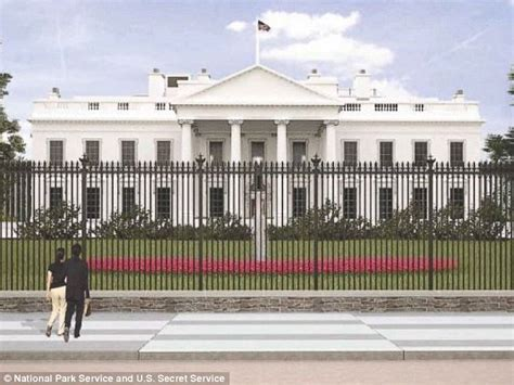 house security fence white house fence re design intends to make the barrier five feet taller daily mail online