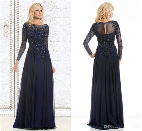 2015 Navy Blue Elegant Mother Of The Bride Dresses ...