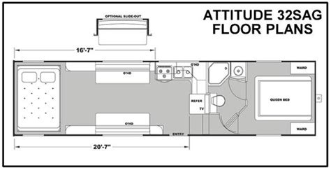 Attitude 5th Wheel Hauler Floor Plans by 2014 Eclipse Attitude 32sag Fifth Wheel Freedom Rv Az