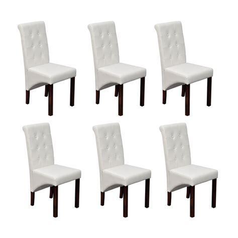 housse de chaise en simili cuir la boutique en ligne chaise antique simili cuir blanc lot de 6 vidaxl fr