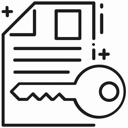 Acceso Icono Documento Icon Access Cifrado Protegido