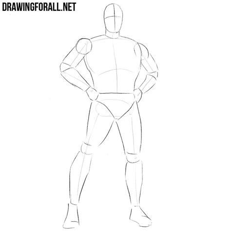 draw  classic superhero drawingforallnet
