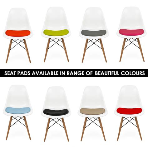 chaises dsw eames seat pad cushions for eames dsw or dsr side chairs cult uk