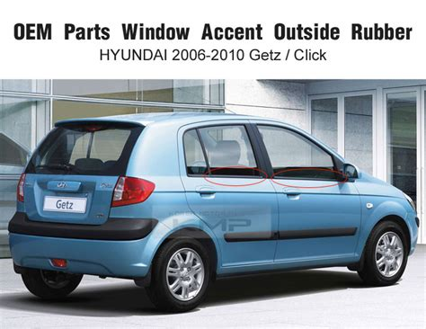 Hyundai Oem Parts by Oem Parts Window Accent Outside Rubber Molding For Hyundai