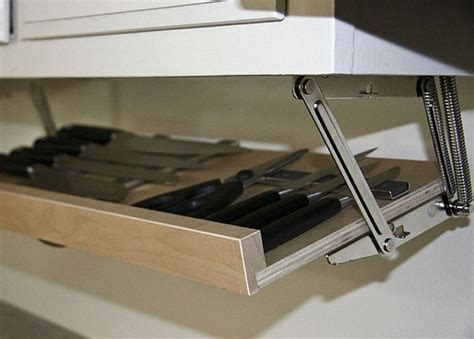 Under Cabinet Magnetic Knife Rack   Awesome Stuff 365