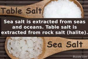 what is the difference between sea salt and table salt truly surprising differences between sea salt and table salt