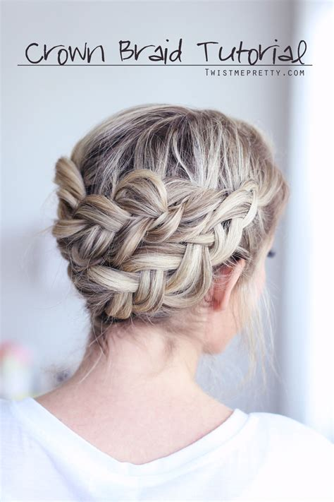 crown braid tutorial twist  pretty