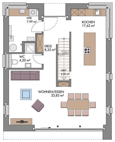 Einfamilienhaus Modern Grundriss by Einfamilienhaus Grundriss Erdgeschoss Modern K 252 Che Offen