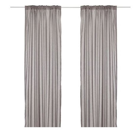 ikea vivan pair of curtains drapes 2 panels gray where to