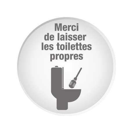 affiche toilettes propres entreprise
