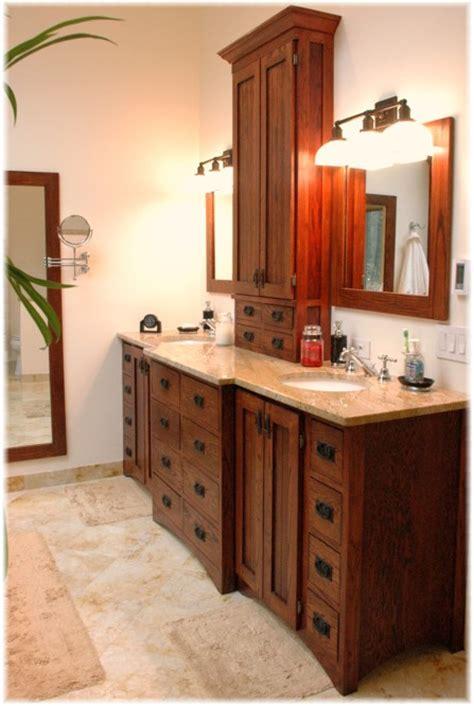 custom design build bath vanity craftsman style