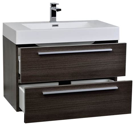 conceptbaths 31 5 quot wall mount modern bathroom vanity grey