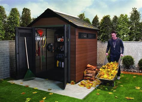 Storage Houses For Backyard keter plastic composite outdoor storage shed best sheds