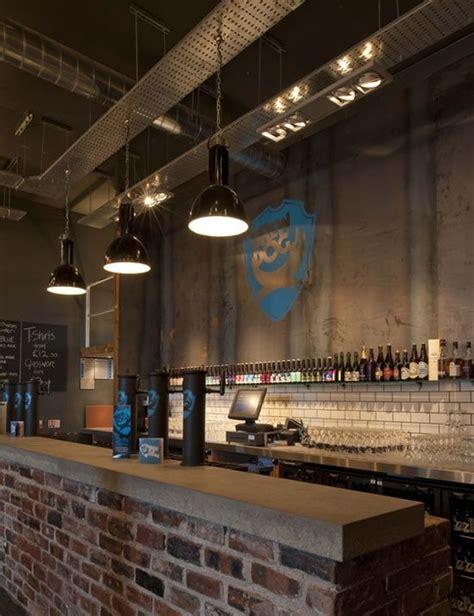 Bar Interior Design by Branding Industrial Features Brick Bar Bar Design