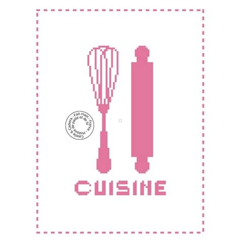 grille de cuisine grille gratuite point de croix cuisine rouleau et fouet