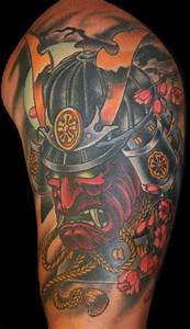 Japanese Samurai Mask Tattoos | eyecatchingtattoos.com ...