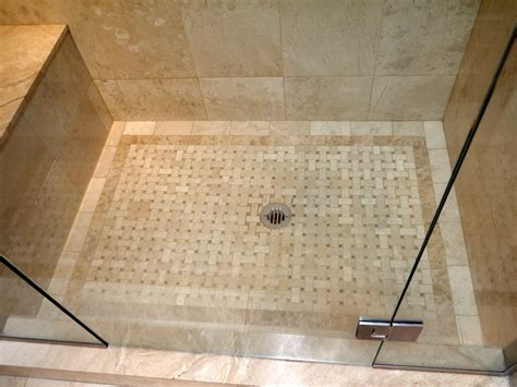 basket weave tile pattern bathroom modern with none