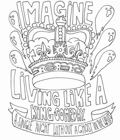 Coloring Pages Lyric Drawings Band Lyrics Draw
