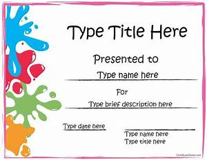 25 best ideas about award certificates on pinterest With kid certificate templates free printable