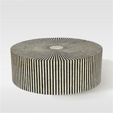 black and silver coffee table stripe inlay silver and black coffee table