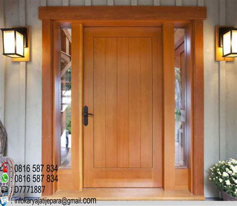 pintu rumah kayu jati minimalis model terbaru aneka macam