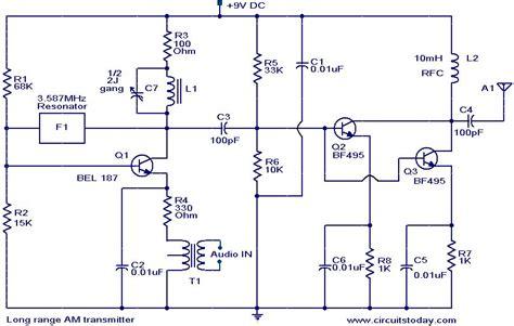Long Range Transmitter Electronic Circuits