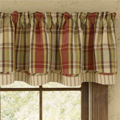 country layered valance curtains heartfelt