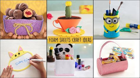 easy foam sheets craft ideas ventunoart youtube