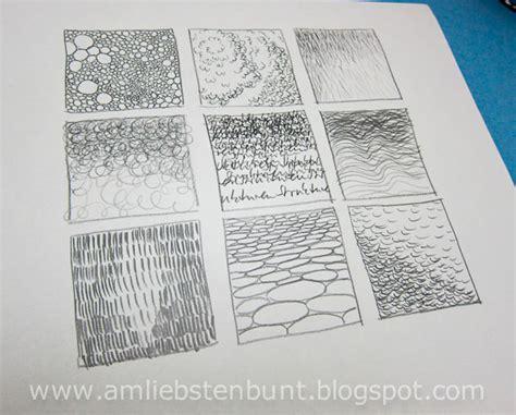 Verschiedene Strukturen Zeichnen am liebsten bunt zeichnen mit bleistift grundlagen