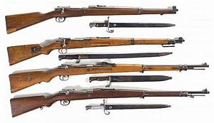 Four Bolt Action Rifles