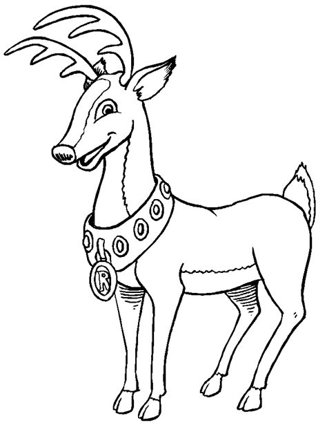 christmas reindeer coloring pages coloringpagescom