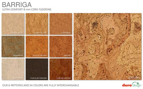 cork color chart durodesign cork flooring floor colors flooring