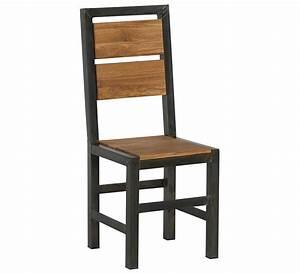 Chaise Chene Massif : chaise m tal et ch ne massif manufacture 39 7005 ~ Teatrodelosmanantiales.com Idées de Décoration