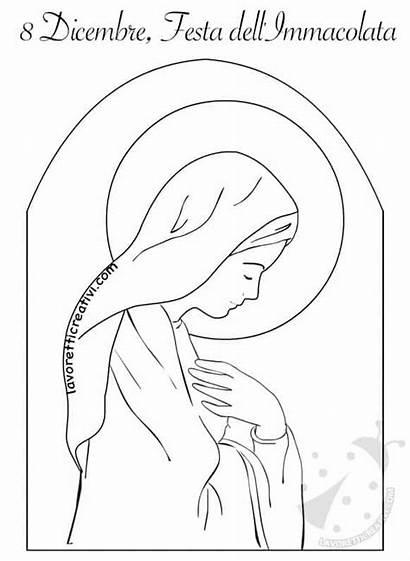 Immacolata Disegno Concezione Colorare Madonna Disegni Natale