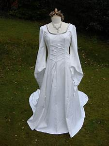 white galadriel arwen lotr renaissance medieval pagan by With wiccan wedding dress